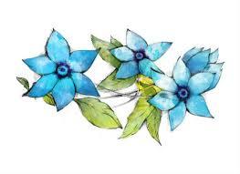 beautiful blue flower tattoos temp tattoos mytat com