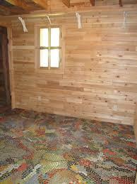 Diy Basement Flooring Beer Bottle Cap Floor Basement Flooring Ideas Basement