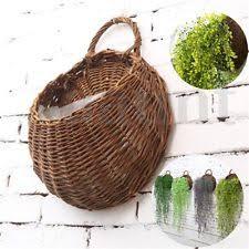 wicker unbranded garden hangings u0026wall mounted baskets boxes ebay