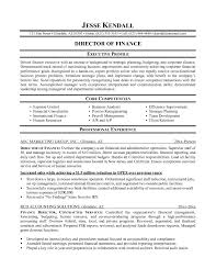 Facility Executive Resume Financial Resume Example Executive Resume Cover Letter Sample