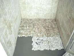 Bathroom Shower Floors Stylish Rock Tile Shower Shower Floors Pebble Tile Shower Floor