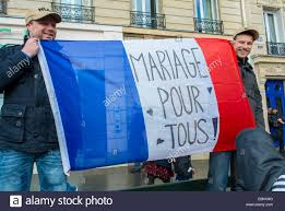 French Flag Banner Paris France French Lgtb Activists Holding French Flag With Stock