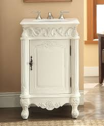 adelina 21 inch antique white finish bathroom vanity