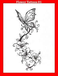 Flower Butterfly Tattoos 01 66 Best Flower Tattoos Images On Beautiful Flower