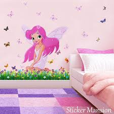barbie disney fairy princess wall sticker mural decal girls princess fairy butterfly wall stickers girl nursery baby room decals
