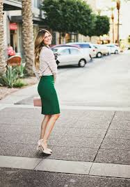 Wool Skirts For Winter Pine Green Skirt Picture 384 Work Chic 25 Winter Office Worthy