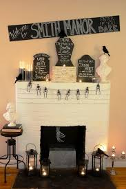 decorating cool halloween fireplace mantel decoration ideas