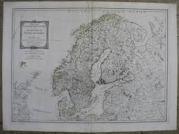 Scandinavia Blank Map by Maps Antique Country Sweden