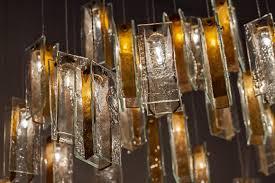 Art Chandelier Glass Art Lighting Gold Drops Lighting Art Glass Lighting Gold