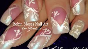 white floral nails diy elegant flower nail art design tutorial
