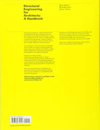 structural engineering for architects a handbook amazon co uk