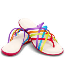 crocs multi color flat slip on u0026 sandal relaxed fit price in india