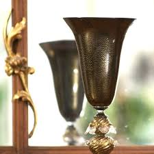 artemisia black decorative goblet with gold stem