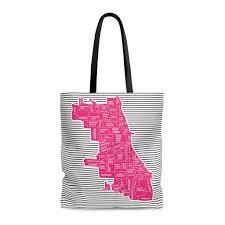 Chicago Neighborhood Maps by Chicago Neighborhood Map Tote Bag Designhype Travel Inspired