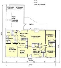 country style house plan 4 beds 3 00 baths 1856 sq ft plan 44 115