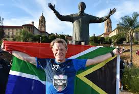 Former Flag Of South Africa Eddie Izzard Ran 27 Marathons In 27 Days Nelson Mandela South