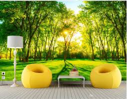 photo any size green trees landscape tv walls mural 3d wallpaper see larger image