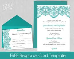 Wedding Invitations With Free Response Cards Printable Lace Invitation Template Free Response Cards
