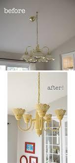 Brass Chandelier Makeover Chandelier Makeover Diy Beforeafter Chandeliers Lighting