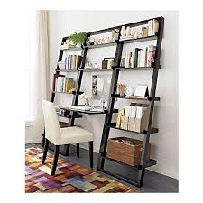 crate and barrel ladder desk crate barrel leaning desk and bookcases are beautiful and space