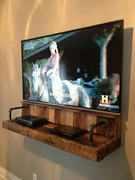 Build A Simple Wood Shelf Unit by Best 25 Wall Mount Tv Shelf Ideas On Pinterest Wall Mounted Tv