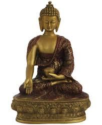 spiritual statues gold colored nepali buddha statue 12 inches