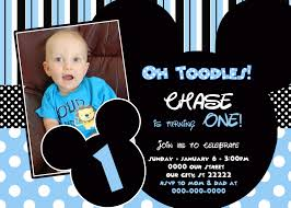 elegant 1st birthday mickey mouse invitations hd image pictures