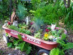 old wagon fairy garden fairy garden pinterest fairy gardens