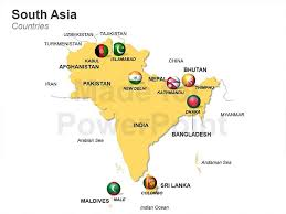 south asia countries map south asia map fully editable slides