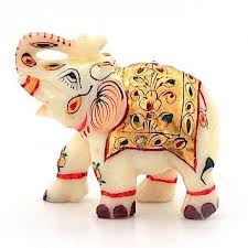 pure marble elephant statue home decor showpiece desiclik com usa