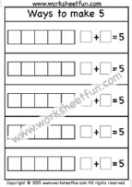 addition u2013 ways to make a number free printable worksheets