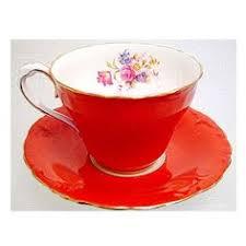 17 piece beautiful paragon belinda fine bone china tea set in