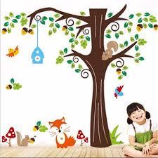stickers arbre chambre enfant sticker arbre et animaux stickers chambre enfant stickers enfant