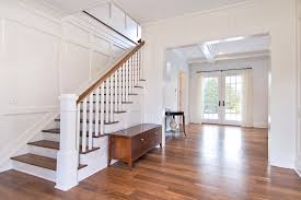 Banister Stair Banister Staircase Transitional With Open Floor Plan Metal Railing