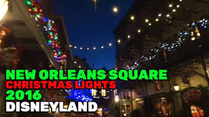 new orleans square christmas lights during 2016 holiday season at
