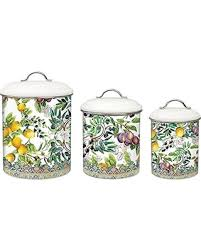 metal kitchen canister sets don t miss this bargain michel design works 3 metal kitchen