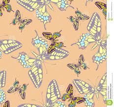 butterflies seamless pattern in doodle style hand drawn butterfly