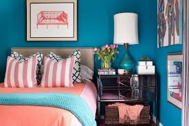Turquoise And Coral Bedroom A Small Bedroom Packed With Cool Caribbean Colors Hgtv
