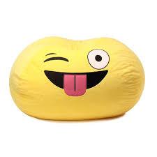 ace casual furniture gomoji emoji silly bean bag chair u0026 reviews