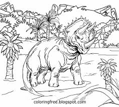 jurassic dinosaur coloring pages