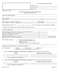acord applications commercial insurance with instruction manual
