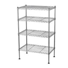 Metal Wire Shelving by Sandusky 74 In H X 72 In W X 24 In D Chrome Wire Commercial