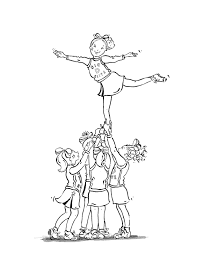 coloring pages of cheerleaders eson me