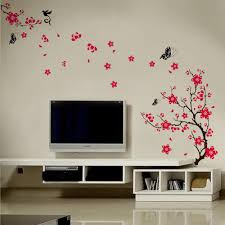 blossom flowers tree wall stickers mural art decal self adhesive blossom flowers tree wall stickers mural art decal self adhesive decor butterfly buy sticker product