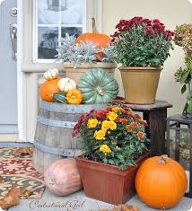 Fall Harvest Outdoor Decorating Ideas - fall porch decorating idea diy fall curb appeal