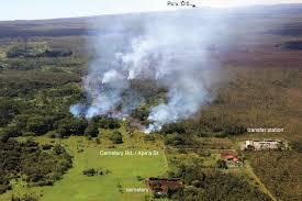 Hawaii Lava Flow Map Kilauea Volcano Lava Flow Picks Up Speed Poised To Cross Pahoa