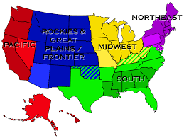 Map Of Midwest States by People Were Asked To Divide The United States Into Exactly Five