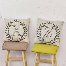 cartoon fashion english letters print sofa pillow cushion