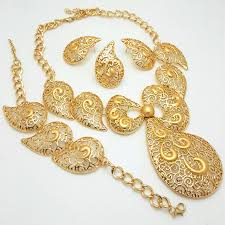 set of gold online get cheap gold necklace set in woman aliexpress