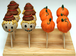 fall cakepops scarecrow hats are chocolate fondant cake pops